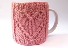 This cute Valentine Mug Cosy Heart Cup Cozy is the perfect gift for the coffee or tea lover in your life. It has lots of stretch so should fit most mugs, even take away cups. Find the knitting pattern by Lesley Jones on LoveKnitting