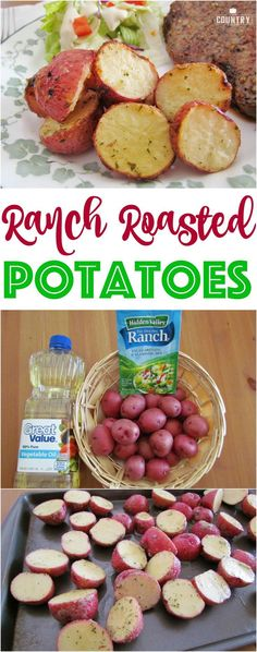 Ranch Roasted Potatoes recipe from The Country Cook potato al horno asadas fritas recetas diet diet plan diet recipes recipes Baby Potato Recipes, Roasted Potato Recipes, Vegetable Recipes, Baby Food Recipes, Cooking Recipes, Healthy Recipes, Baked Potato, Red Roasted Potatoes, Potato Diet