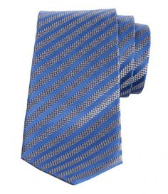 It's almost impossible to go wrong with a striped version. Crafted in fine silk, this piece is patterned with herringbone stripes that add a refreshing dimension to this otherwise classic item.