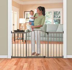 Summer Infant Metal Expansion Gate, 6 Foot Wide Extra Tall Walk Thru, Bronze