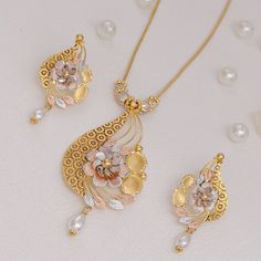 Plain Gold Necklace Set gms) - Fancy Jewellery for Women by Jewelegance Gold Necklace Simple, Gold Jewelry Simple, Necklace Set, Gold Necklaces, Pendant Necklace, Gold Ring Designs, Gold Earrings Designs, Necklace Designs, Fancy Jewellery