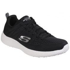 Skechers Burst Second Wind Memory Foam Lace Up Black/White Trainer Mens Trainers, Skechers, Memory Foam, Men's Shoes, Lace Up, Black And White, Nike, Amazon, Image Link