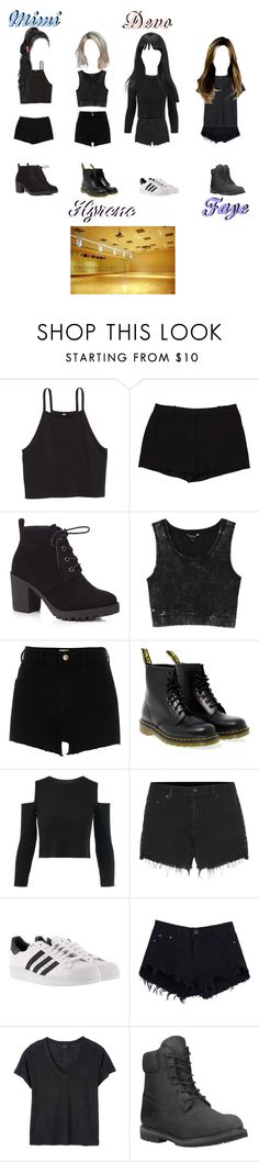 """""""[BLACKPINK] dance practice for stay cover [Hart]"""" by moonmimi-official ❤ liked on Polyvore featuring L'Agence, Red Herring, Monki, River Island, Dr. Martens, rag & bone, adidas, Deby Debo and Timberland"""