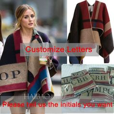 Oversized Sweater Cardigan Olivia Palermo Runway Catwalk Street Snap Knitted Cardigan Plaid Cape Poncho Shawl Women Lady