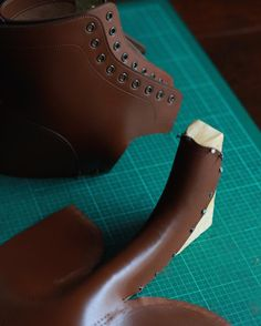 Blocking tongue  #countryboots  #bespoke  #bootmaker  #fieldboots  #apronfront Make Your Own Shoes, How To Make Shoes, Men's Shoes, Shoe Boots, Fashion Boots, Mens Fashion, Country Boots, Shoe Pattern, Leather Projects