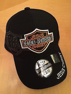 Jesus Christ Christian Black Baseball Cap for sale online Black Baseball Cap, Baseball Hats, Christian Hats, Harley Davidson Hats, Inspirational Gifts, Jesus Christ, Beanies, Basketball Shoes, Heavenly