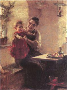 """""""Μητέρα με παιδί"""", Ιακωβίδης"""