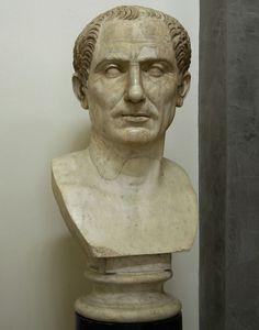 Gaius Julius Caesar, Roman bust (marble), 2nd century AD, Museo Archeologico Nazionale, Naples.