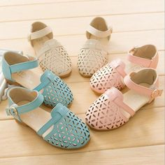 dc40a31234b38 Spring Summer Baby Child Kids Hollow out Girl Princess Fashion Sandals Shoes