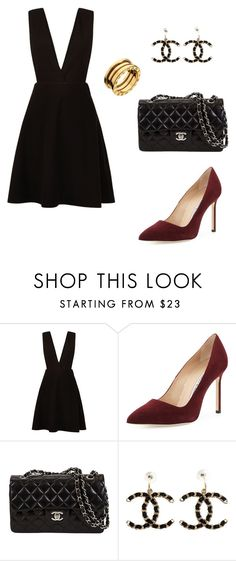 """ night out with the girls"" by rocior-k ❤ liked on Polyvore featuring New Look, Manolo Blahnik, Chanel and Bulgari"