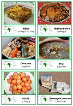 nouvelles cartes de nomenclature sur les continents : les peuples et les plats culinaires d'Afrique