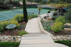 Landscape Tennis Court Landscape Design, Pictures, Remodel, Decor and Ideas - page 2