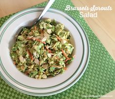 Salad Recipe: Brussels Sprouts Salad #vegan #plantbased #healthy #recipe #whatveganseat #glutenfree #salad