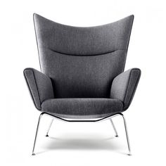 wegner 445 wing chair and ottoman