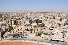 Vista de Aleppo antes de ser destruída pela guerra.
