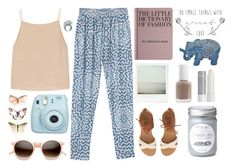 """""""Lazy spring morning"""" by rheeee ❤ liked on Polyvore featuring Monki, T By Alexander Wang, Hachette Book Group, Retrò, Korres, Billabong and Essie"""