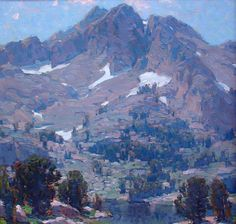 Sierra Lake - Edgar Payne (1882 - 1947) Oil on canvas, 29 x 29 inches