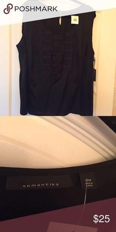 BN! Black Semantics silk top Plus Size 2X Brand new with tags! Black Semantics silk top from Nordstrom Plus Size 2X. Semantics Tops Camisoles