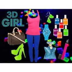 3D Girl by silversilvia on Polyvore featuring moda, Dollydagger, Louis Vuitton, Ice, Plastic Bat, Illamasqua, Bond No. 9 and American Apparel