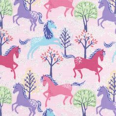 Timeless Treasures House Designer - Glitter Horses - Gallop in Pink  need some of this for Amelia!