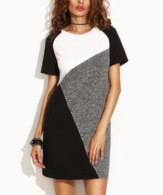 Black & Gray Color Block Dress