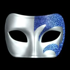 Masquerade Party Masks - Pin it :-) Follow us .. CLICK IMAGE TWICE for our BEST PRICING ... SEE A LARGER SELECTION of Masquerade Party Masks at http://azgiftideas.com/product-category/masquerade-party-masks/ halloween masks, mardi gras masks, dress up costumes Mystic Blue Glitter & Silver Venetian Masquerade Mask ~ Mardi Gras Prom Party (STC12948)