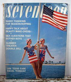 1940s Seventeen Magazine | Vintage Seventeen Magazine - July 1968 - Teen Fashion - Retro
