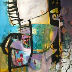 Abstract, gestural work on paper by Dorothy Ganek