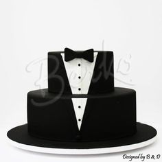 Great for a grooms cake! Tuxedo Cupcakes, Tuxedo Cake, Elegant Wedding Cakes, Beautiful Wedding Cakes, Fancy Cakes, Cute Cakes, Fondant Cakes, Cupcake Cakes, Cake Toronto