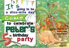 Dinosaur Digital Party Invitation No 1 by Odesigns on Etsy, €9.00