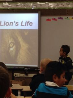 Mason presented a powerpoint about Lions today, you did a great job ... And i love the panorama you and Dad put together .. Great Job