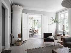 Living Area, Living Room, Scandinavian Interior Design, Village Houses, Small Apartments, Minimalist Design, Cribs, New Homes, Uppsala