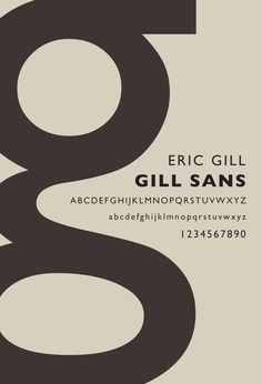 Gill Sans.