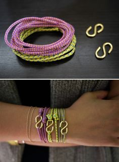 DIY: rope bracelet ...these are super cute, but where can I get the accessory cord cheaper than $50 for 300 meters? Don't need that much.