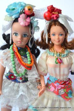 Ana Caldatto : Boneca Susi Baiana 1971 e Barbie Baiana 1984