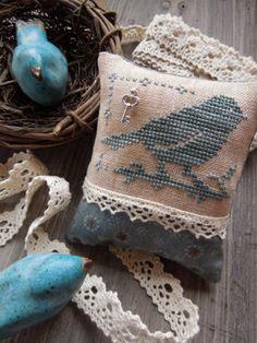The Little Stitcher: Little Bluebird