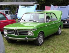 Ah, the BMW 2002. A 1969 variety here, lovely color.