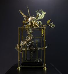 The Sea Dragon on the clock He lives in the deep sea. You can see illuminators and a prop on his tale. Sculpture Art, Sculptures, Gothic Revival Architecture, Clocks Back, Sea Dragon, Draw On Photos, Junk Art, Steampunk Fashion, Cyberpunk