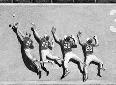 1972 World Series: Oakland is nursing a small lead over the heavily-favored Reds. It is the ninth inning and a drive is hit to deep left. Rudi leaps against the wall and catches the ball. This is one of the most unforgettable plays in Oakland History as they would go on to win the series against the Big Red Machine.