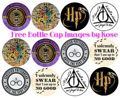 These Harry Potter BCIs are gender neutral. Harry Potter Potion Labels, Harry Potter Printables, Harry Potter Bday, Harry Potter Baby Shower, Bottle Cap Projects, Bottle Cap Crafts, Bottle Cap Art, Bottle Cap Images, Girl Scout Swap