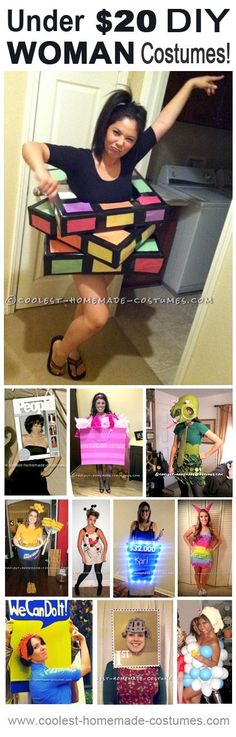 11 Cheap Halloween Costume Ideas for Women - Holidays - Dress Cheap Halloween Costumes, Creative Costumes, Homemade Costumes, Cute Costumes, Halloween Kostüm, Holidays Halloween, Halloween Decorations, Costume Ideas, Woman Costumes