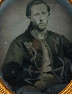 Ambrotype of Union Zouave of the 62nd NYV Anderson Zouaves