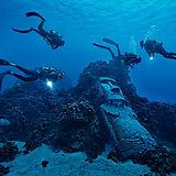 Divers near Easter Island