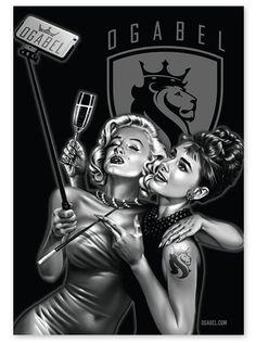 """""""Mar-Drey"""" Sticker by OG Abel#inked #inkedmag #inkedgirls #inkedguys #mar-drey #sticker #marilynmonroe #breakfastattiffianys"""