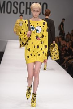 Oh yes, the much talked about Spongebob-themed pieces from #Moschino's FW14 are available at Bagheera Boutique -> http://www.bagheeraboutique.com/en-US/designer/moschino