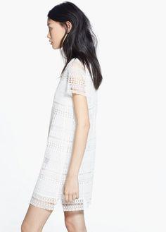 Vestido calado geométrico | MANGO