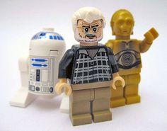 LEGO Star Wars R2-D2 & C-3PO & Custom George Lucas LEGO Minifigs by Jemppu M