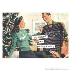 gay Christmas Cards | holiday cards, gay, gay apparel, Christmas cards,vintage,retro,Anne ...