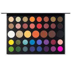 There are zero limits with this Morphe palette of 39 seriously bold, crazy-colorful shades from James Charles. Morphe Palette, Pallette, Eyeshadow Palette, Makeup Palette, Halloween Wigs, Makeup Box, Eye Makeup, Makeup Kiko, Makeup Ideas