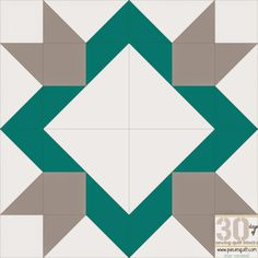 """Piece N Quilt: How to: Arrowhead Star Quilt Block- 30 Days of Sewing Quilt Blocks - Star Version! This block will finish at 12""""x12"""" square.  to make this into a 96""""x96"""" quilt you'll need the following fabrics: White fabric: 6 3/8 yards Teal fabric: 3 1/4 yards Gray fabric: 2 7/8 yards"""